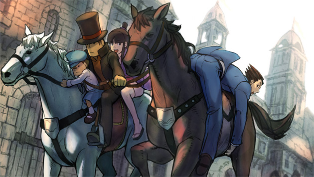 Profesor layton vs ace attorney El Profesor Layton VS Ace Attorney más cerca de occidente