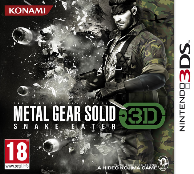 metal gear solid snake eater 3d cover