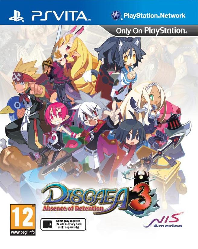 Disgaea 3 Absence of Detention PS Vita portada