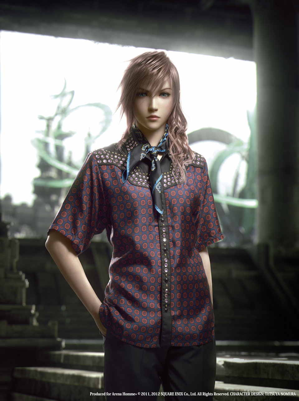 Final Fantasy XIII 2 moda Prada Lighting Personajes de Final Fantasy XIII 2 se visten de Prada