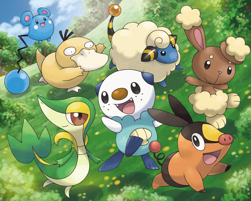 Pokémon Edición Blanca Negra 2 artwork 01 Tepig, Snivy y Oshawott: starters en Pokémon Edición Negra 2 y Blanca 2