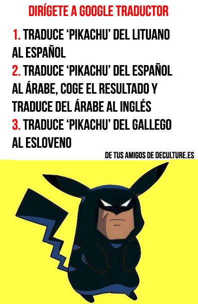 pikachu google traductor