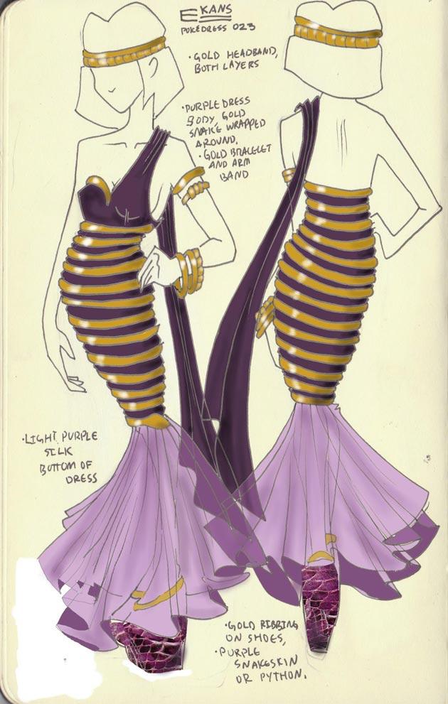 Vestido Ekans Pokevestidos, diseños de vestidos inspirados en Pokémon