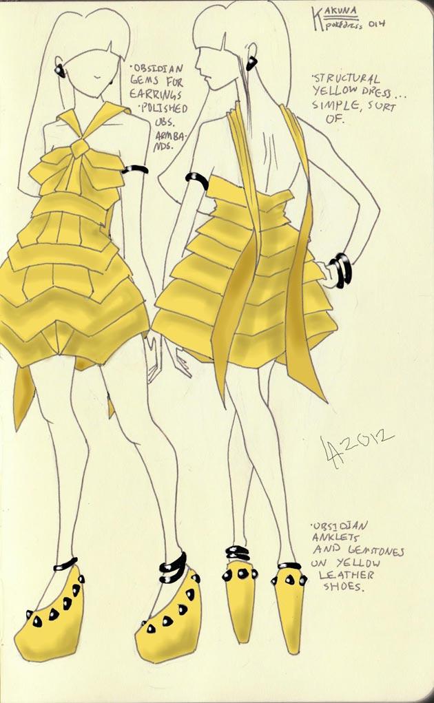 Vestido Kakuna Pokevestidos, diseños de vestidos inspirados en Pokémon