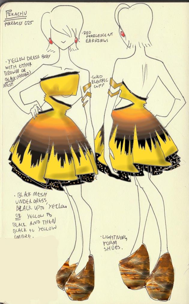 Vestido Pikachu Pokevestidos, diseños de vestidos inspirados en Pokémon