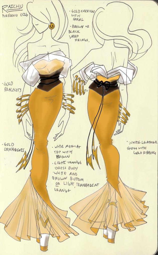 Vestido Raichu Pokevestidos, diseños de vestidos inspirados en Pokémon