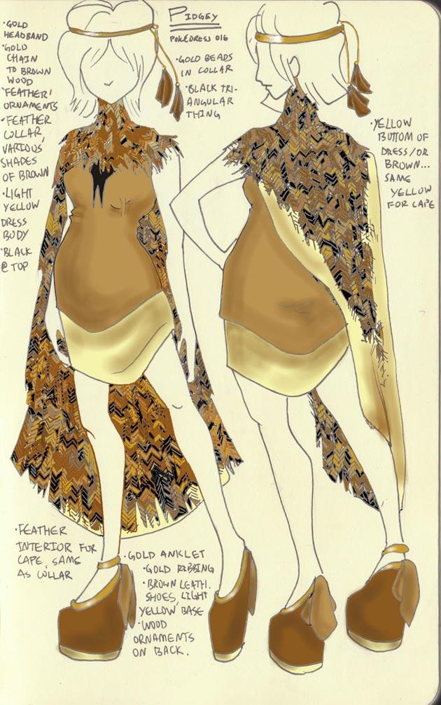 vestido Pidgey Pokevestidos, diseños de vestidos inspirados en Pokémon