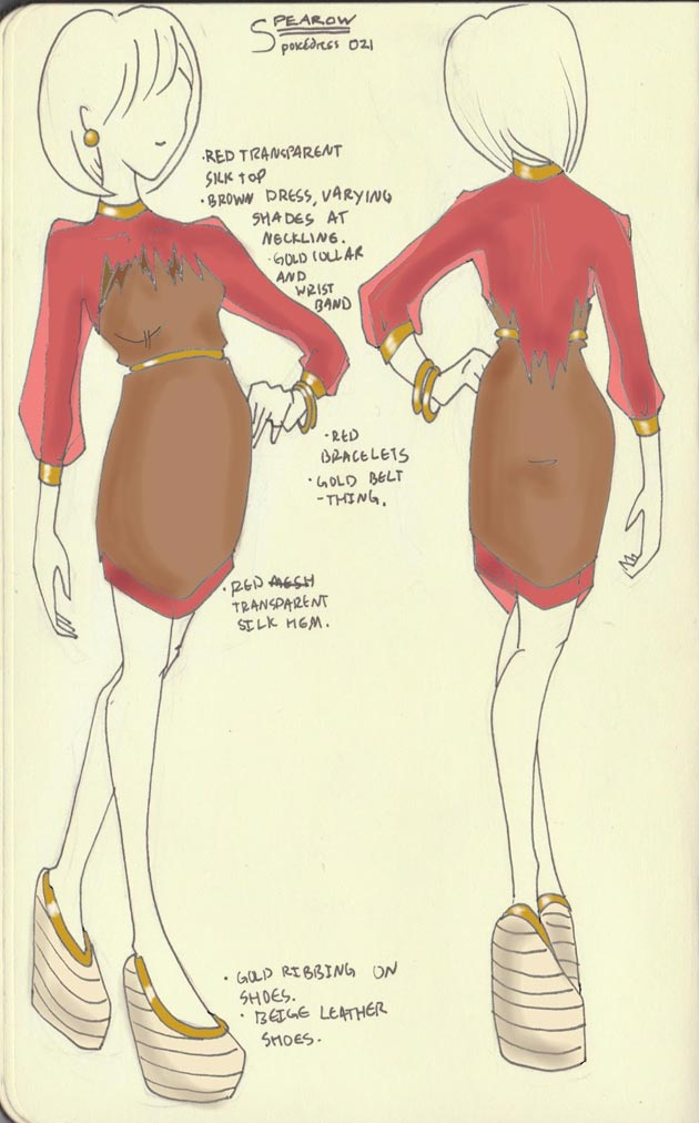 vestido Spearow Pokevestidos, diseños de vestidos inspirados en Pokémon