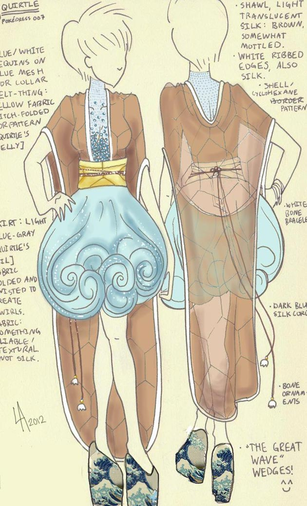 vestido squirtle Pokevestidos, diseños de vestidos inspirados en Pokémon