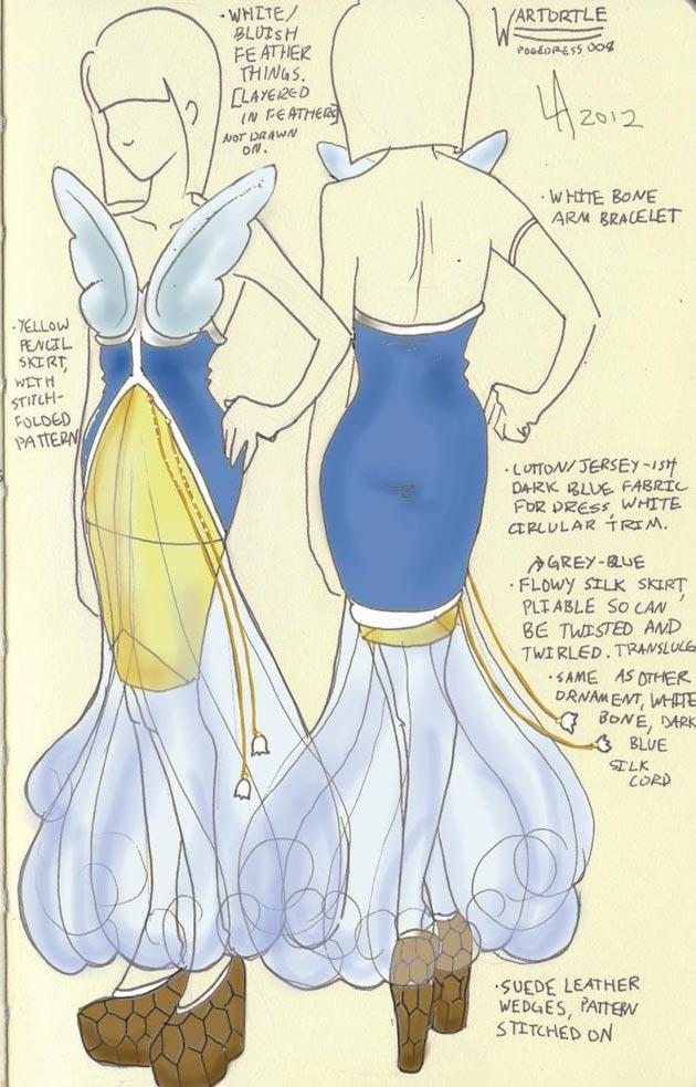 vestido wartortle Pokevestidos, diseños de vestidos inspirados en Pokémon