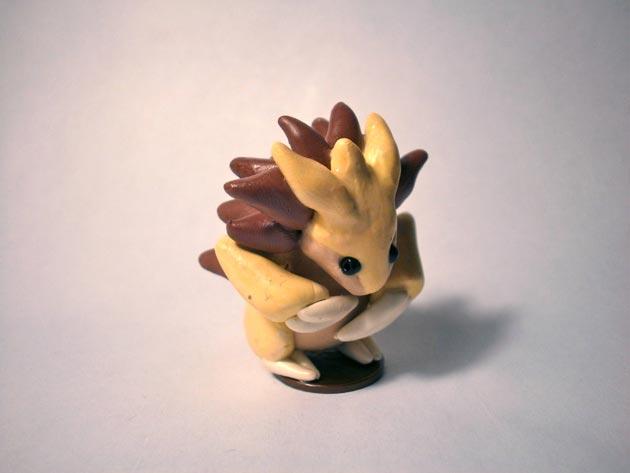 Pokémon en miniatura hechos con plastilina