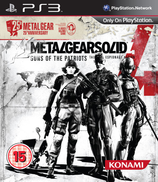 metal gear solid 4 cover 25th anniversary