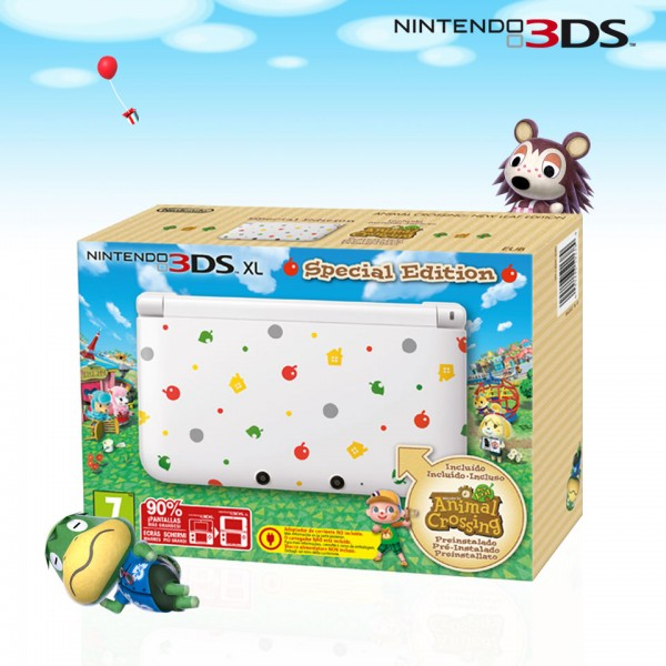 3DS XL Animal Crossing 600x600 Pack Nintendo 3DS XL con Animal Crossing: New Leaf en Europa