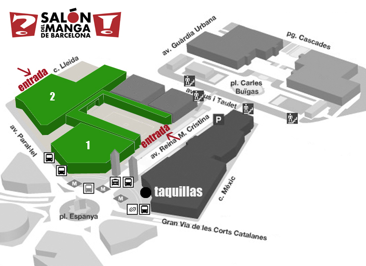 Salon Manga 2013. Plano