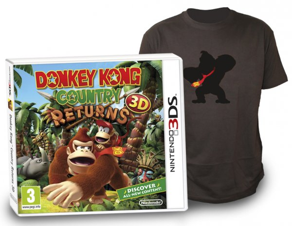 donkey kong country returns 3d camiseta