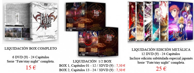 liquidacion fate stay night anime project