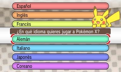 pokemon x y idioma