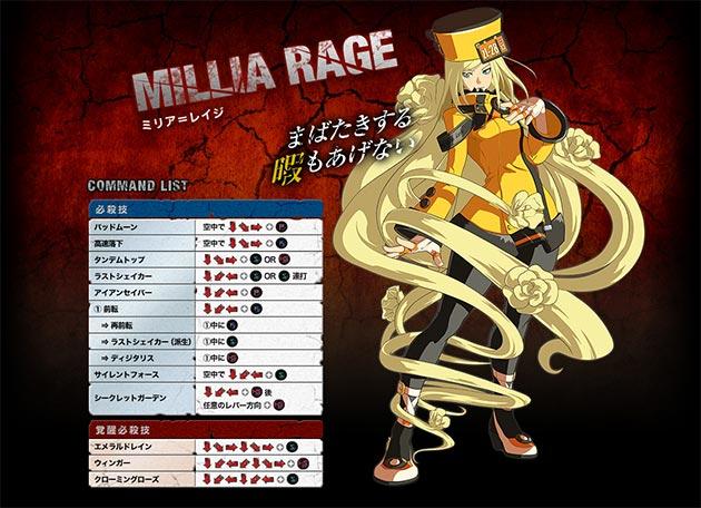 millia-rage