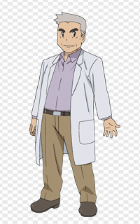 profesor oak pokemon the origin