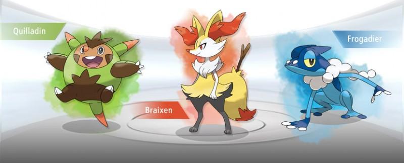Quilladin braixen frogadier pokemon x y