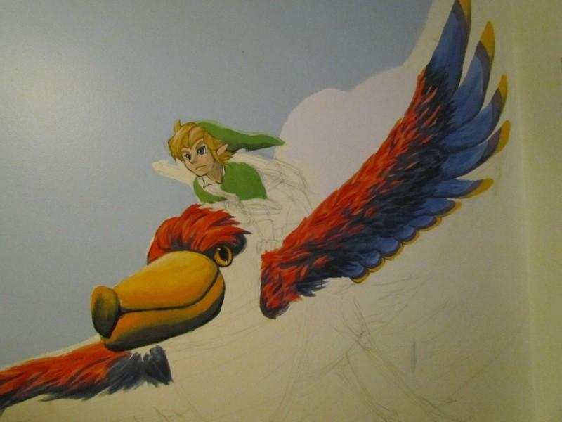 Zelda Skyward Sword pintura 08