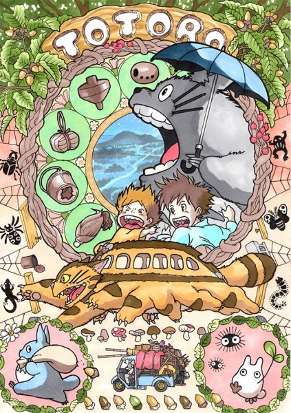 Totoro-Art-Nouveau