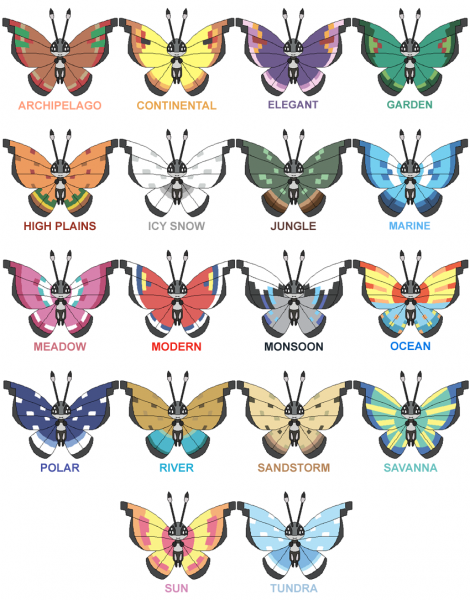 vivillon pokemon x y
