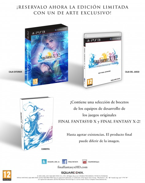 Final Fantasy X X-2 limitada pal