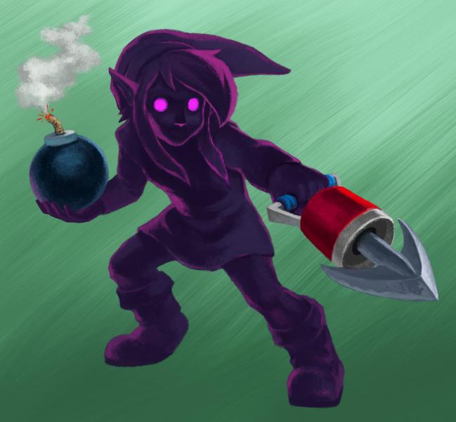 zelda link between worlds character artwork 04