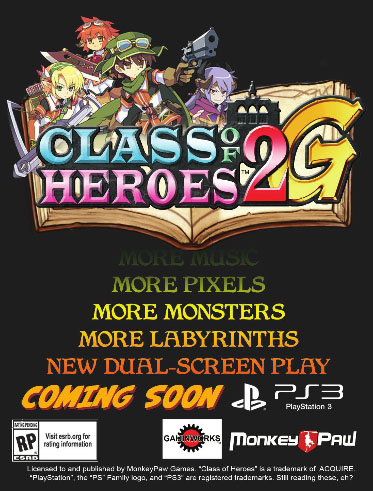 Class of heroes 2g NA