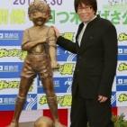 Oliver y Benji estatua