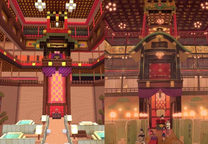 El viaje de Chihiro Minecraft 02