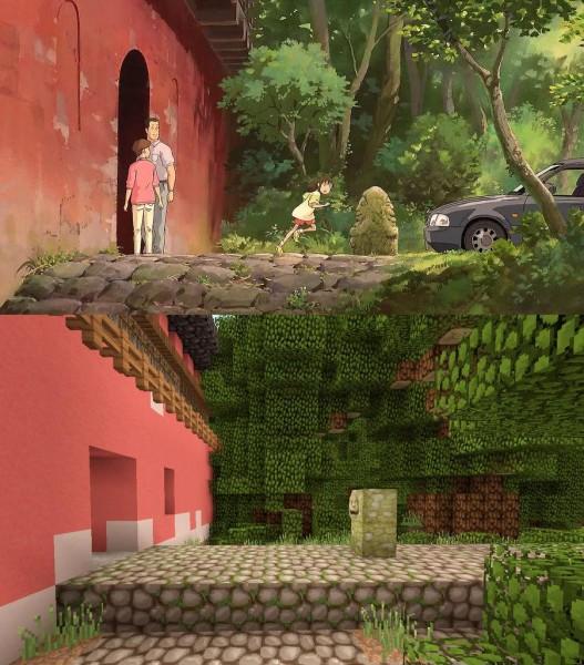 El viaje de Chihiro Minecraft 03
