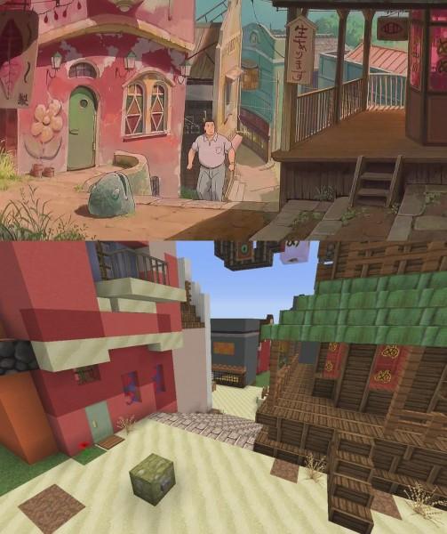 El viaje de Chihiro Minecraft 06