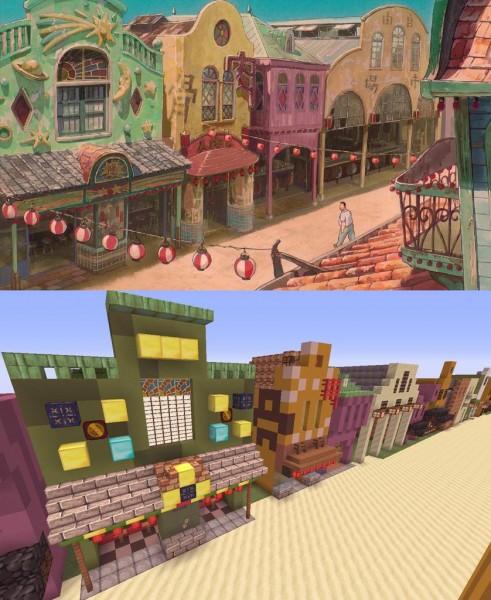 El viaje de Chihiro Minecraft 07