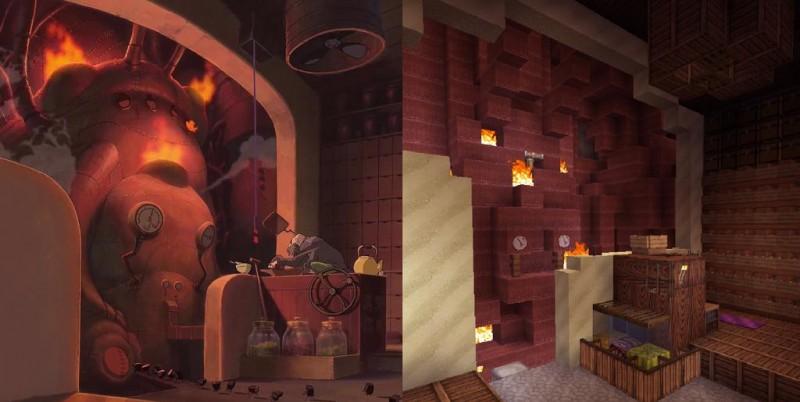 El viaje de Chihiro Minecraft 09
