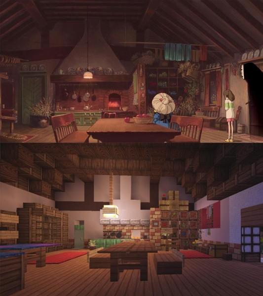 El viaje de Chihiro Minecraft 12