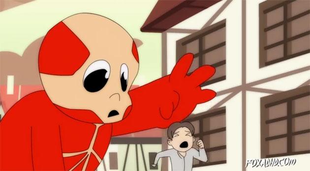 ataque a los titanes bebe Adorable parodia de Ataque a los Titanes con bebés