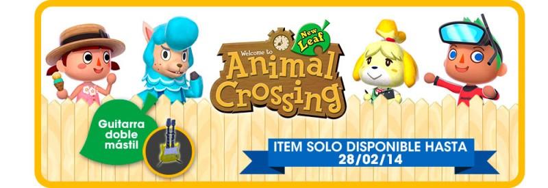 Animal Crossing 3ds guitarra doble mastil
