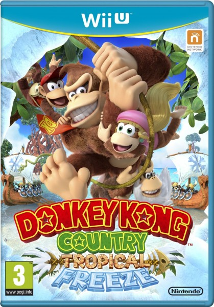Donkey Kong Country Tropical Freeze PAL Cover