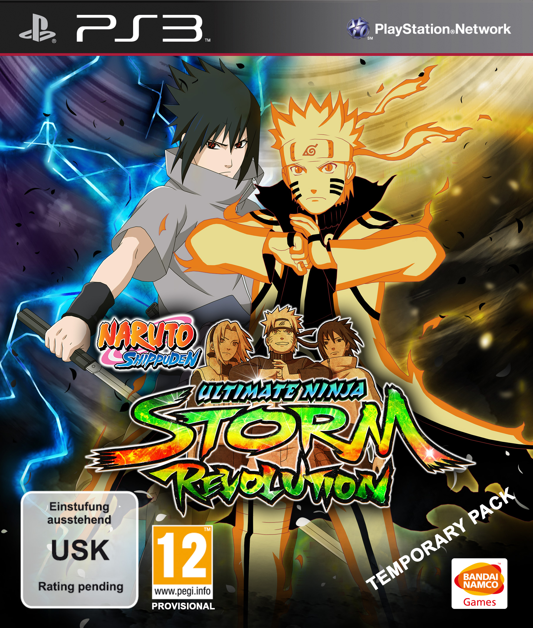 Naruto Shippuden Ultimate Ninja Storm Revolution PAL cover ps3