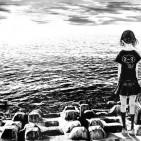 chica-orilla-mar-port
