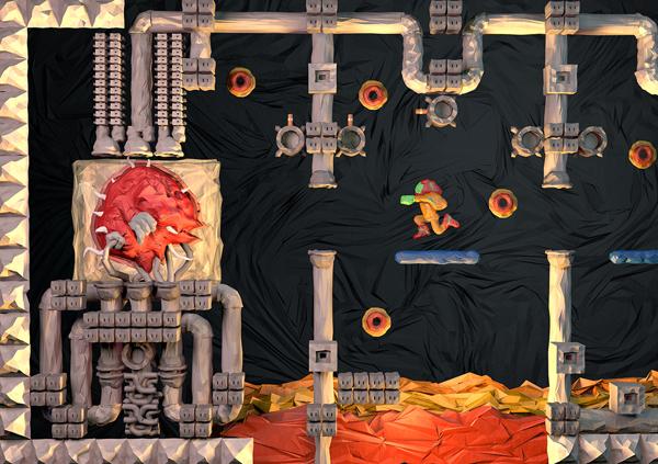 Metroid NES Origami