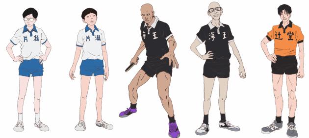 ping pong anime personajes