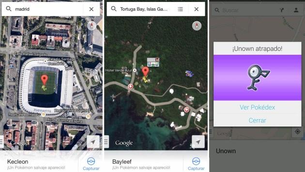 how to catch pokemon on google maps
