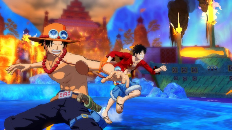 Ace-Luffy-One-Piece-Unlimited-World-Red