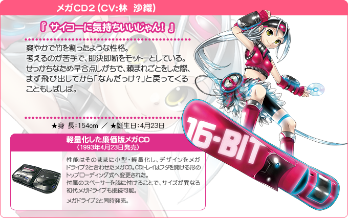 Mega CD 2 SEGA Hard Girls