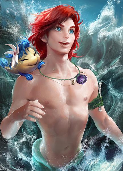 Sakimichan-Ariel-Sirenita