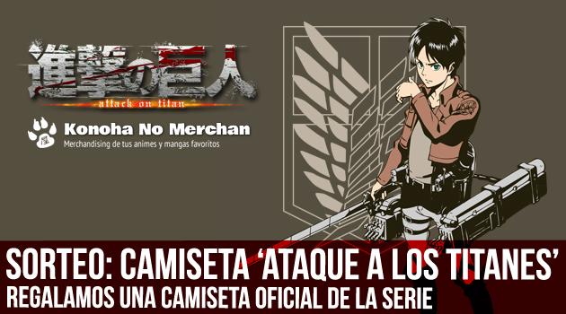 ataque camiseta sorteo Sorteo: Regalamos una camiseta oficial de Ataque a los Titanes