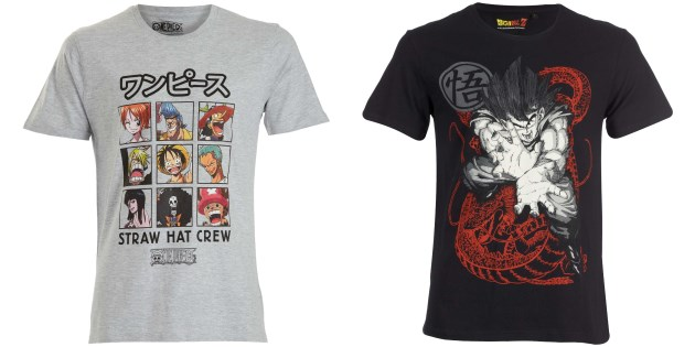 camisetas dragon ball one piece kiabi